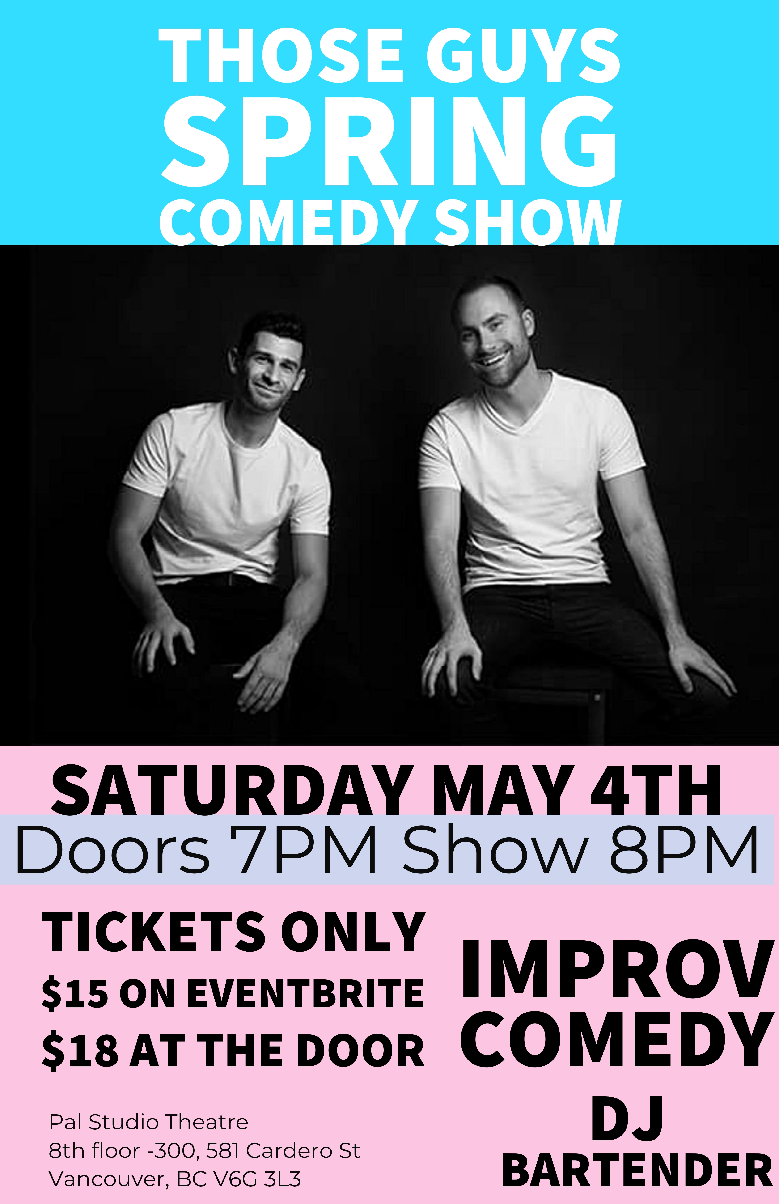 Spring comedy poster